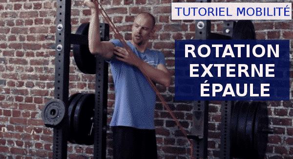 TUTORIEL ROTATION EXTERNE ÉPAULE